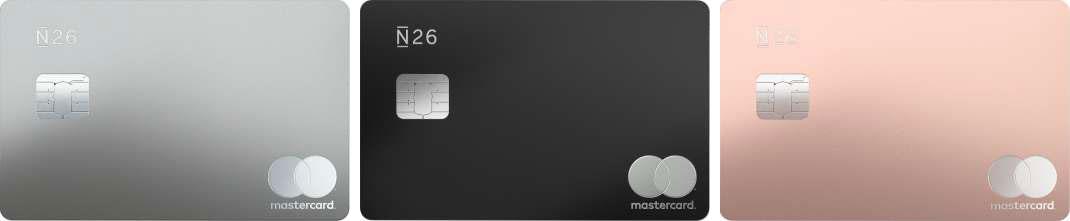 N26 Metal Mastercard - Värivaihtoehdot