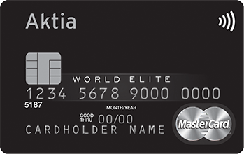 Aktia World Elite Credit Mastercard